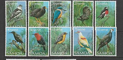 Samoa 1988 Birds, the small size, set to 85c UM, 10 vals as shown