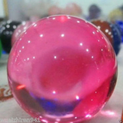 Asian Pink Magic Glass Ball Sphere 40mm+Stand