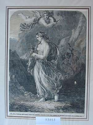 93853-Psyche-by T.Uwins- Holzstich-Wood engraving