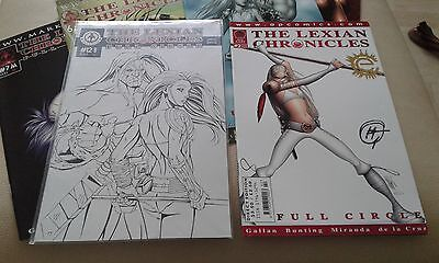 Markosia Lexian Chronicles comics x 8 limited 12b includes signed Harry Gallan