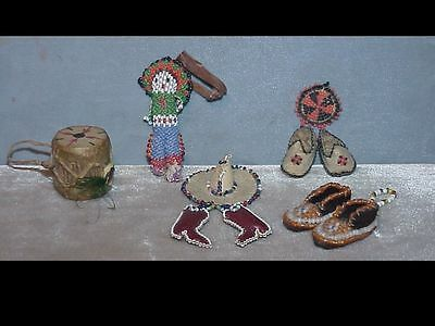 Vintage Native American Zuni Beaded Figure LOT OF 4