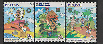 3 very nice MNH Disney stamps Belize - its a small world expo
