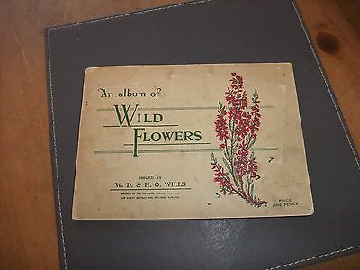 Wild Flowers 1940s Picture Card Album Issued By W D & H O Wills + Another.