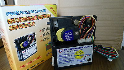 Arcade Pinball Redemption machine Electronic Coin Mech Selector Anti-String Pro