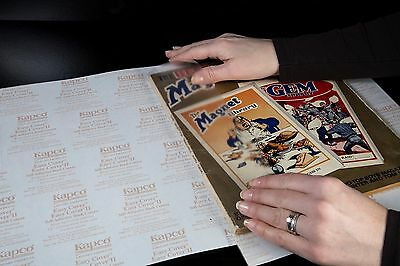 100 x KAPCO EASY COVER Clear Heavy Duty Self Adhesive book covers 330mm x 279mm