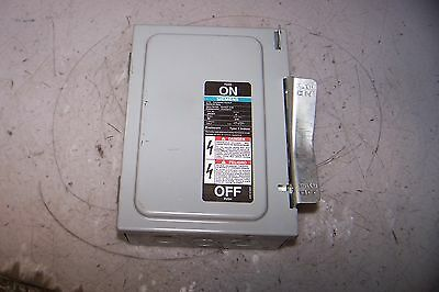 Siemens 30 Amp Fused Safety Switch 240 Vac 1 Phase 7-1/2 Hp Jn321