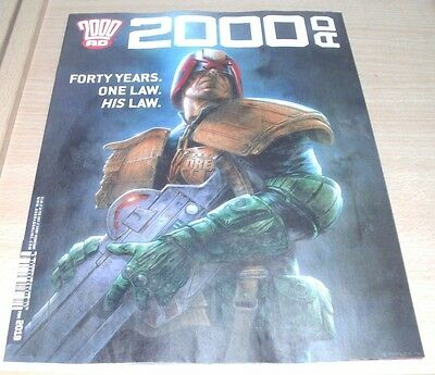 2000AD Weekly magazine #2019 22 FEB 2017 Judge Dredd Forty Years One Law His Law