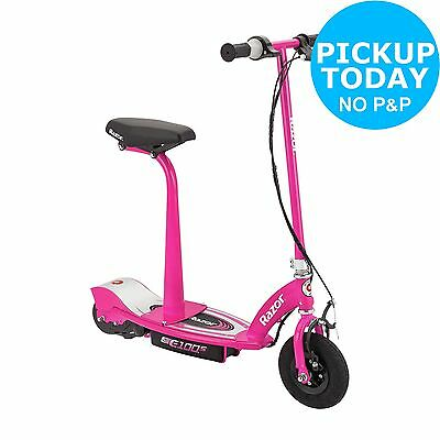 Razor E100S Electric Scooter With Seat - Pink -From the Argos Shop on ebay