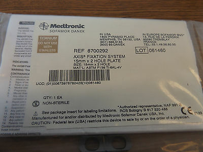 Medtronic 870-292 Fixation System  Plate