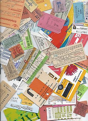Railway Bus Tickets etc Approx 120 from Overseas as per scans