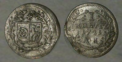 *unbelievable !!!* German Silver Colonial Coin Dated 1721 !!! * Must See !!! *