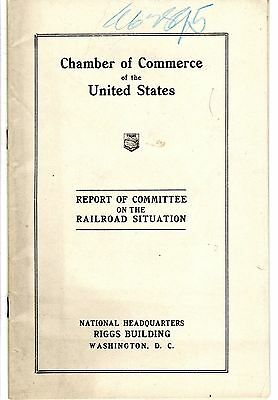 Chamber Of Commerce Of The Usa - Report Of Committee On The Railroad Situation