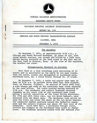 Federal Railroad Administration Accident Reports - 1970's