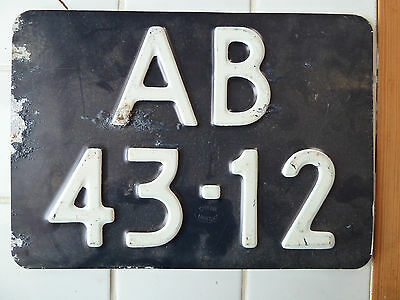 Vintage Foreign License Plate  #AB-43-12.......148G