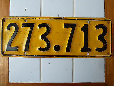 Vintage Foreign License Plate  #273-713.......209G