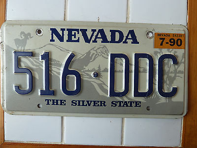 1990 Nevada License plate #516-DDC......111g