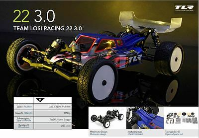 TLR Team Losi Racing 1/10 22 3.0 2WD Buggy Pro Race Kit mid motor TLR03006 NEW !