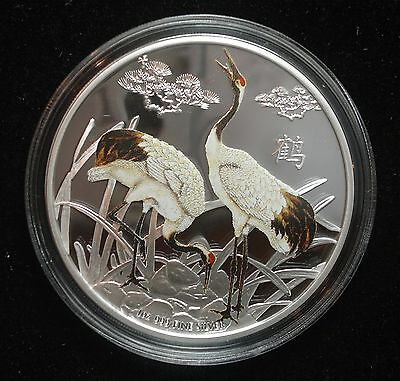 NIUE 2013 FENG SHUI CRANES - 1oz LIMITED EDITION PROOF SILVER COIN