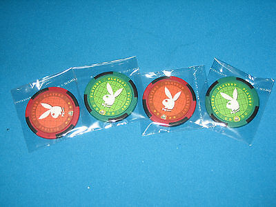 """poker Chip Golf Ball Markers""   2 Red + 2 Green"