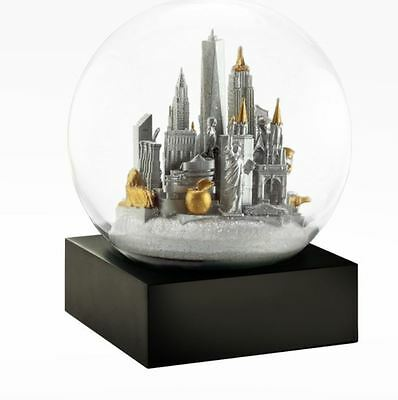 Cool Snow Globes NYC New York City Silver Glass Snow Globe