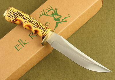 Elk Ridge Survival Bowie Camping Hunting KNIFE Fixed Blade