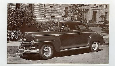 1946 Plymouth Club Coupe ORIGINAL Factory Postcard ft1881