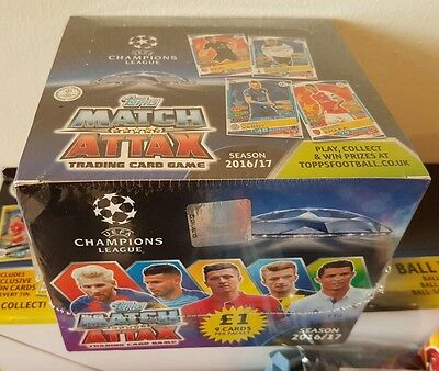Match Attax Champions League 16/17 -Brand New Full Box Of 50 Sealed packets