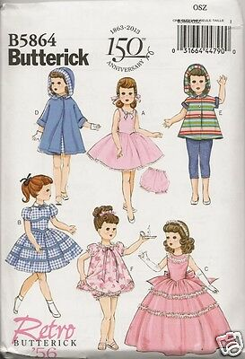 B5864  18 Inch Doll Clothes New  Sewing Pattern Butterick 5864