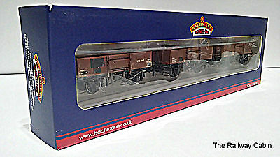 Bachmann 38-340 OO Gauge Set of 13T High Sided Steel Open Wagons Weathered