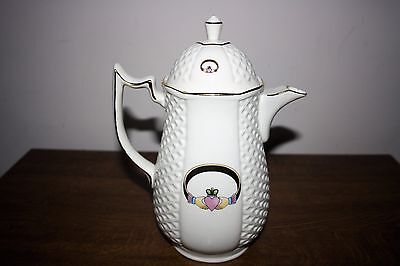 "Beautiful Donegal ""Claddagh"" Parian China Handcrafted Coffee Pot"