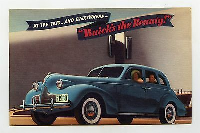 1939 Buick ORIGINAL Factory Postcard ft1976
