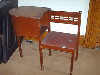 Vintage Telephone Gossip Bench Early Dark Wood Chair Seat for Restoration deco