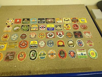 Vintage Beer Labels collection x50 Job Lot all different, free post lot A