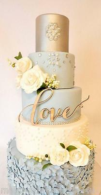 Our stunning wooden LOVE  Wedding cake Toppers