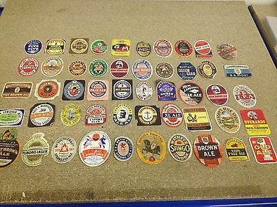 Vintage Beer Labels collection x50 Job Lot all different, free post lot AA