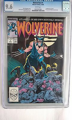 Wolverine #1 Marvel 11/88 Chris Claremont Story White Pages CGC 9.6