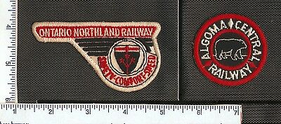 for sale, 2 Cdn. Rail Road patches, Ontario Northland and Algoma Central.