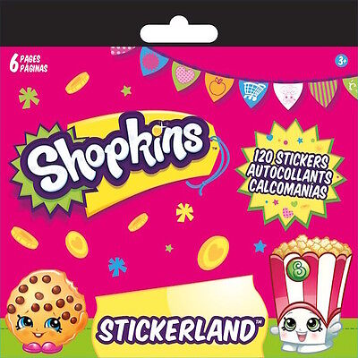 120 Shopkins Stickers ( 6 sheets of 20 stickers) Party Favors Teacher Supply