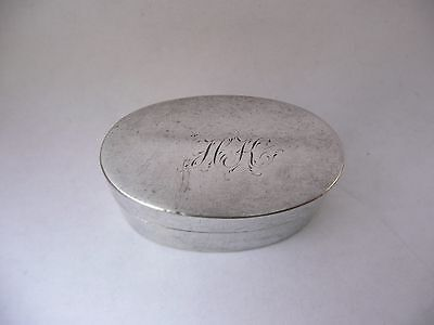 Fab Antique George Iii Silver Hallmarked Thomas Willmore 1799 Oval Nutmeg Grater