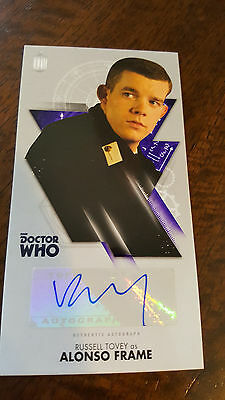 2016 Topps Tenth Doctor Who Widevision Auto Card Russell Tovey As Alonso Frame