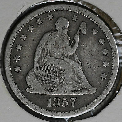 Better Date 1857-O Seated Liberty Quarter Dollar!!