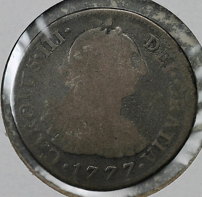 1777 Peru 2 Real Silver Coin