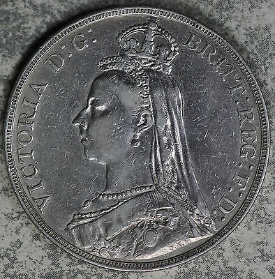 Nice 1889 Great Britain Silver Crown!