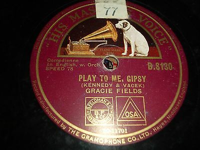 """JOBLOT Collection of 5x GRACIE FIELDS 10"""" 78RPM Gramophone Records 72/10"""