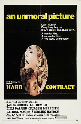 16mm Feature HARD CONTRACT--1969. James Coburn, Lee Remick. LPP COLOR!