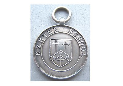Exeter School Medal - Hallmarked Sterling Silver, Not Engraved