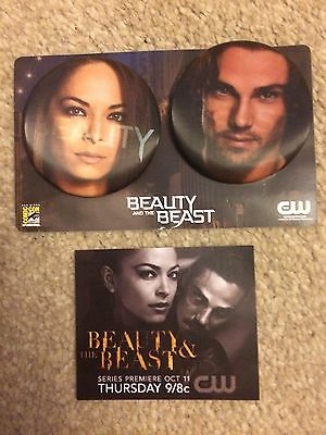 Beauty And The Beast Promo Lenticular Badge Set & Mini Card SDCC Comic Con