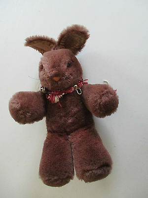 Antique~Vintage~Straw Filled 2 Cute Little Rabbits