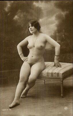 Vintage French Nude Woman 1920 Real Photo Card/Postcard Blank Back #4 gfz
