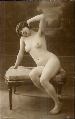 Vintage French Nude Woman 1920 Real Photo Card/Postcard Blank Back #1 gfz
